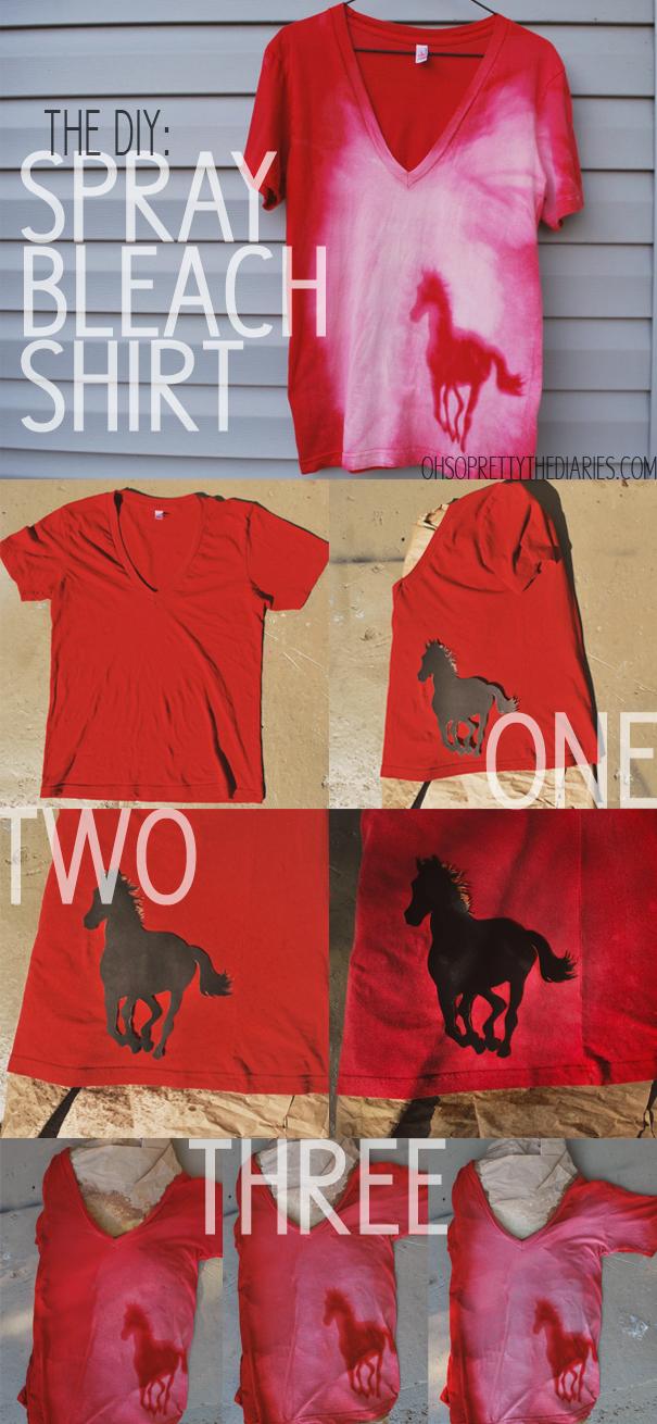The diy spray bleach shirt for How to bleach at shirt