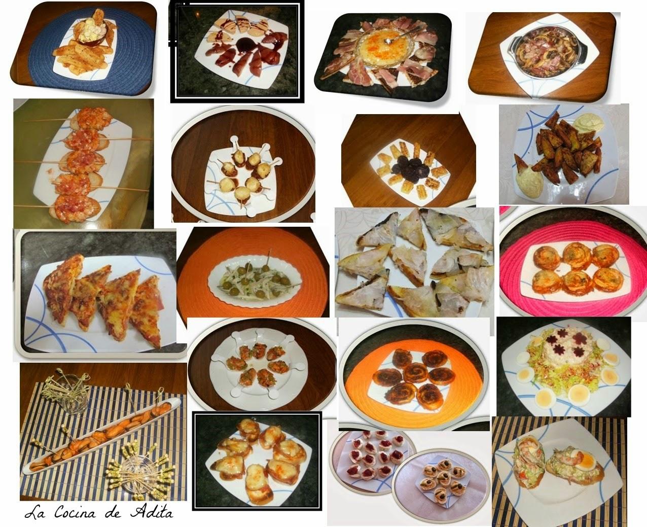 25 tapas para un buen buffet la cocina de adita - Cena romantica ligera ...