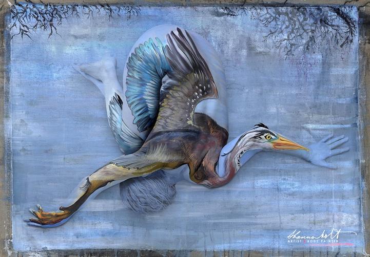 Shannon Holt pinta animais da Flórida em corpos nus
