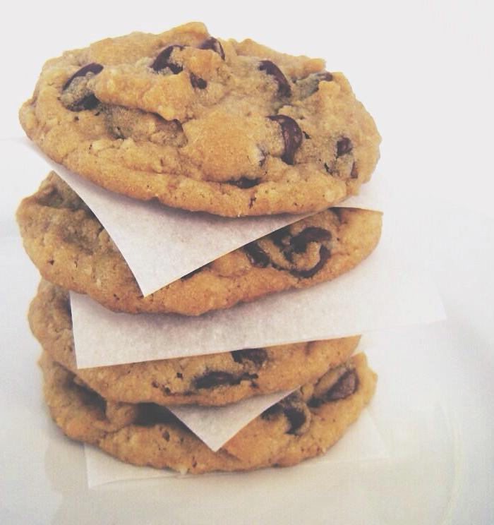 peanut butter + oatmeal chocolate chip cookies | une gamine dans la cuisine