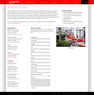 Book an event form