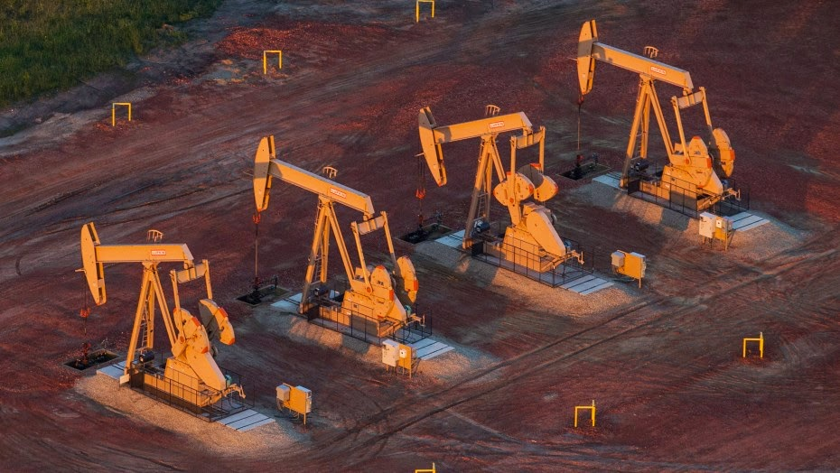 Pumpjacks  (Credit: Andrew Burton/Getty Images) Click to enlarge.