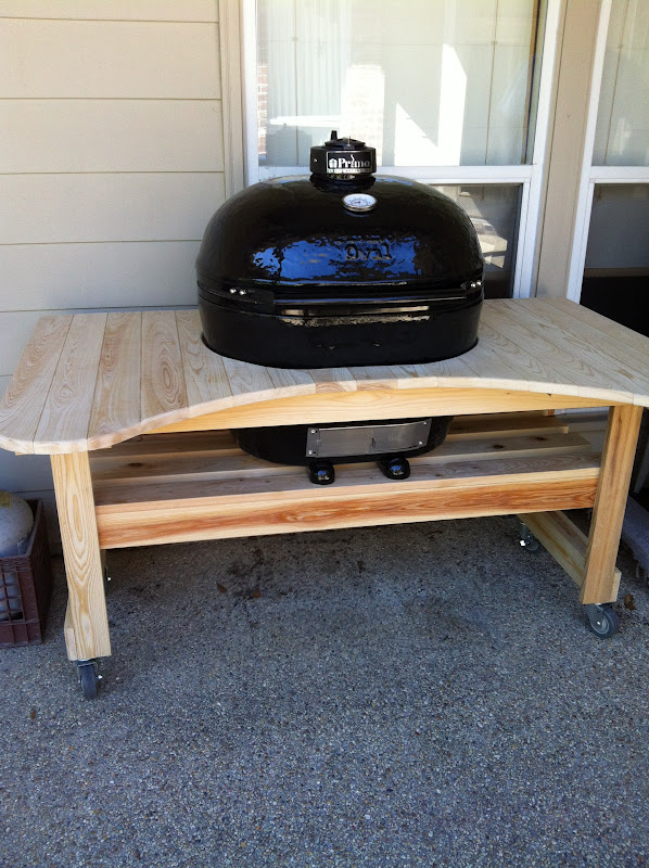 Xl Big Green Egg Table Plans