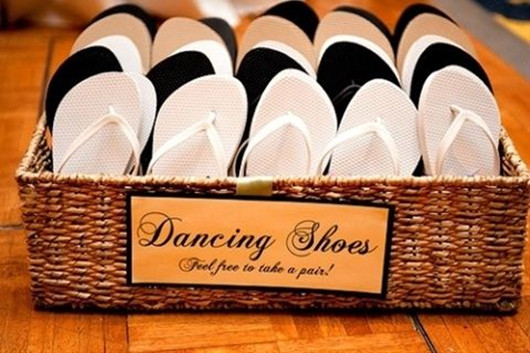 Wedding Dance Shoes In The Basket