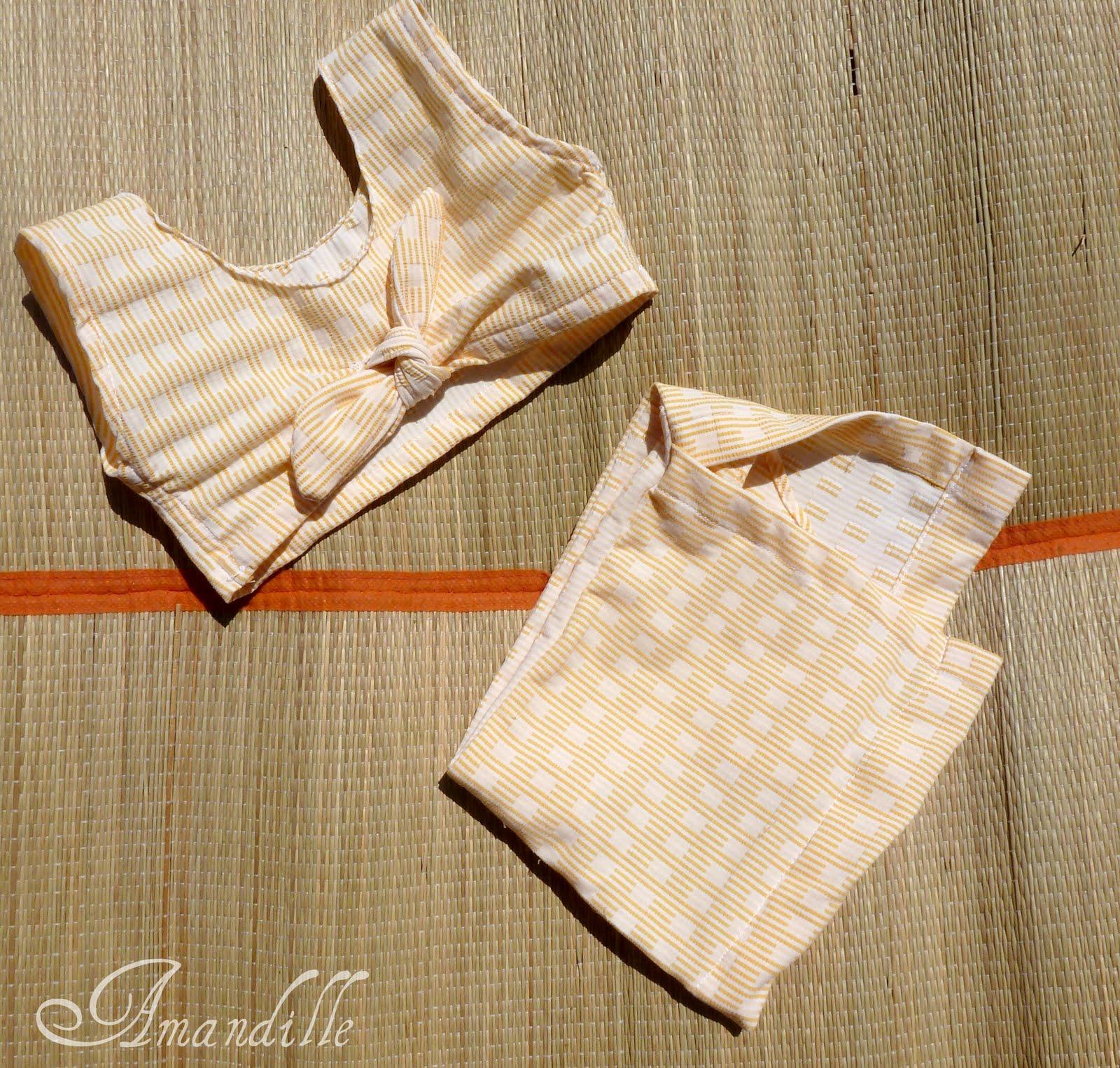 Tuto couture enfant le maillot de bain jupette pour b b for Malette couture pour fille