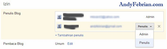 Cara ganti email Blogspot