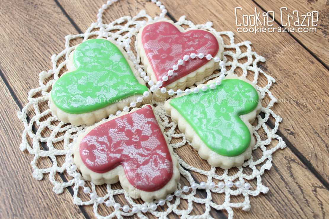 http://www.cookiecrazie.com/2014/07/airbrushed-lace-heart-cookies-tutorial.html