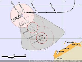 Tropischer Sturm IGGY vor Australien wird wahrscheinlich ein Hurrikan, Iggy, Australien, Australische Zyklonsaison, aktuell, Verlauf, Vorhersage Forecast Prognose, Januar, 2012,
