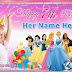 Birthday Party Tarpaulin PSD Template - Disney Princess