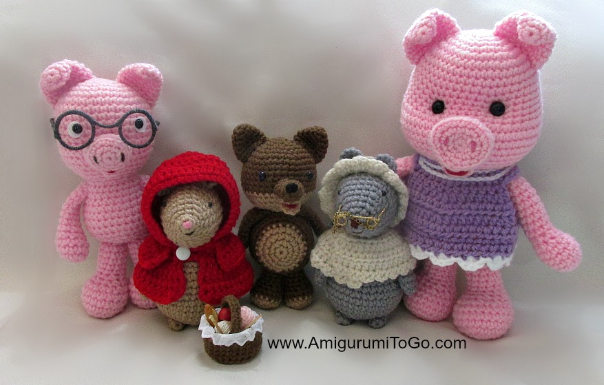 Amigurumi Tutorials : Some Pigs Wolf and Couple of Mice ~ Amigurumi To Go