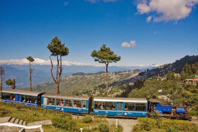 Toy Train at Batasia Loop, Darjeeling