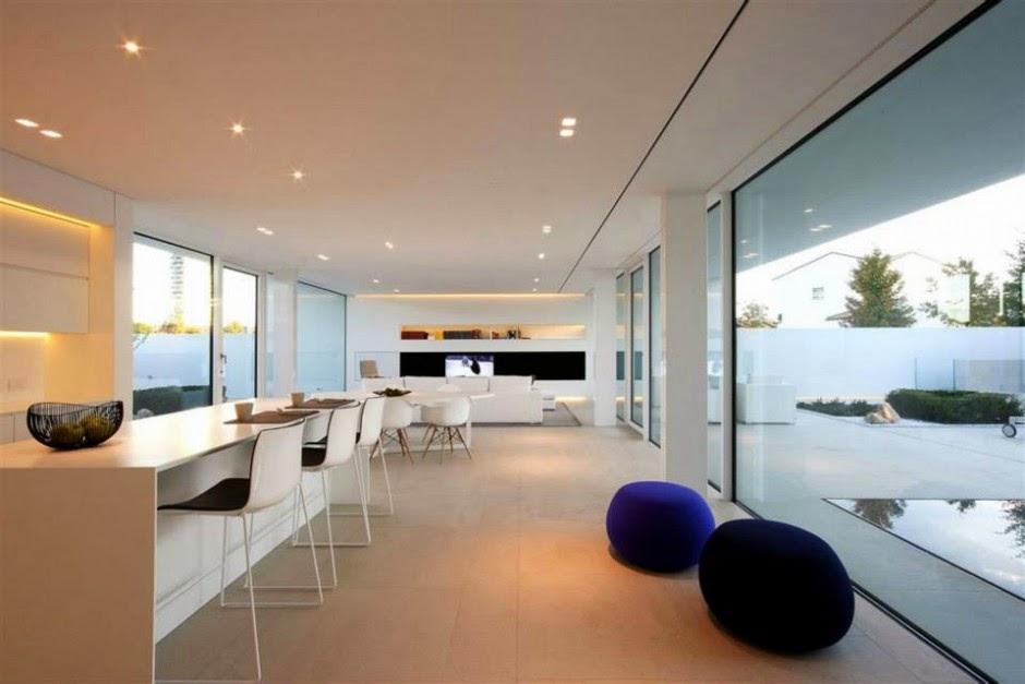 Con vistas blog villa de dise o minimalista for Casa minimalista interior cocina