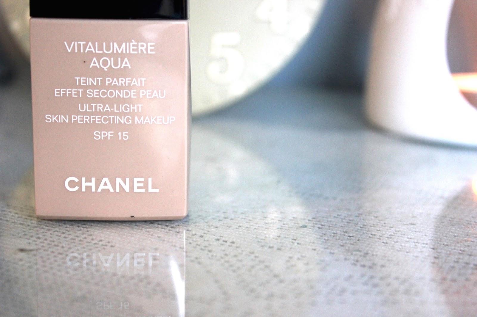 Chanel Vitalumiere Aqua Review Becka Shepherd Vitalumire Ultra Light Skin Perfecting Makeup Spf 15 Img 2547