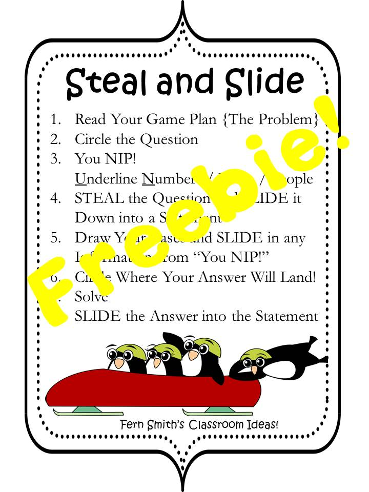 Fern Smith's FREE Tacky the Penguin Steal and Slide Book Companion