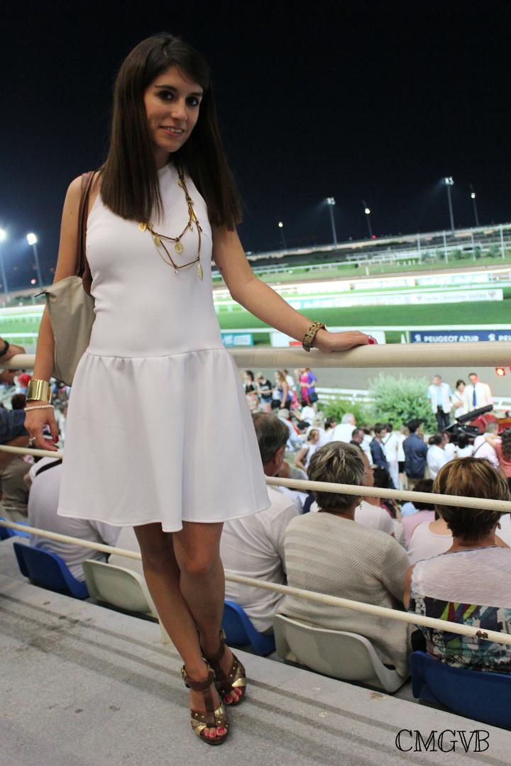 diana dazzling, fashion blogger, fashion blog,  cmgvb, como me gusta vivir bien, dazzling, hippodrome, Cagnes sur Mer, racetrack, horses race, white dress,Longchamp Grasse, cote d'azur, french riviera, travel