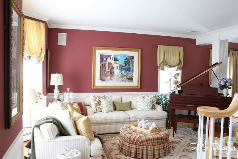 Burgundy Living Room Paint