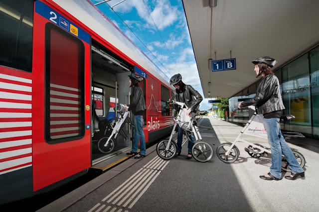 RegioBike: trem e bicicleta dobrável na Suíça