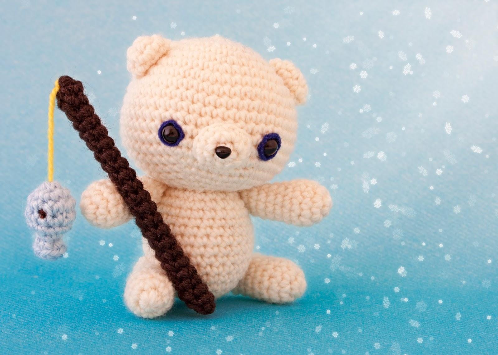 Amigurumi Oso Panda Patron : Mis pequicosas kuma el oso polar