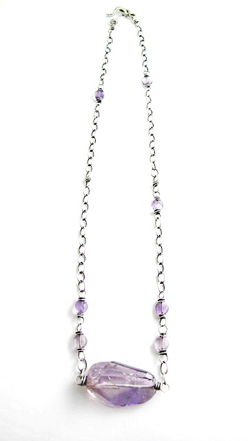 Harmony Sterling Silver Amethyst Birthstone Necklace by Beth Hemmila of Hint Jewelry