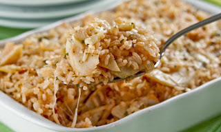 Arroz de forno com bacalhau light