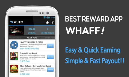 Gambar untuk Cara Mendapatkan Uang di Whaff Rewards