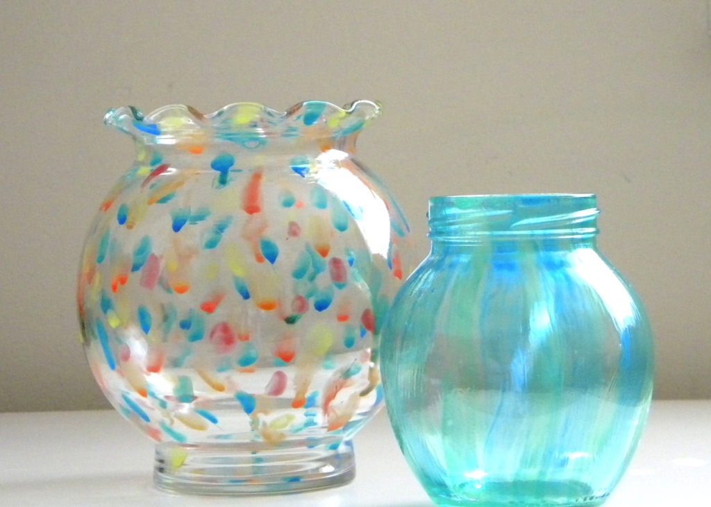 homework a creative blog etceteras painted glass vase