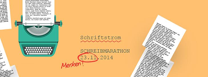 SCHRIFTSTROM, der Schreibmarathon. Collage © fieberherz.de