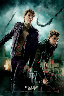 Harry Potter and the Deathly Hallows: Part 2 Character Movie Poster Set - James Phelps as Fred Weasley & Oliver Phelps as George Weasley