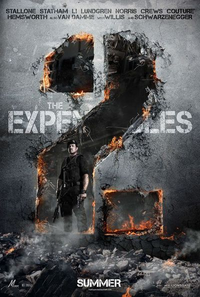 The Expendables 2, the poster, the real