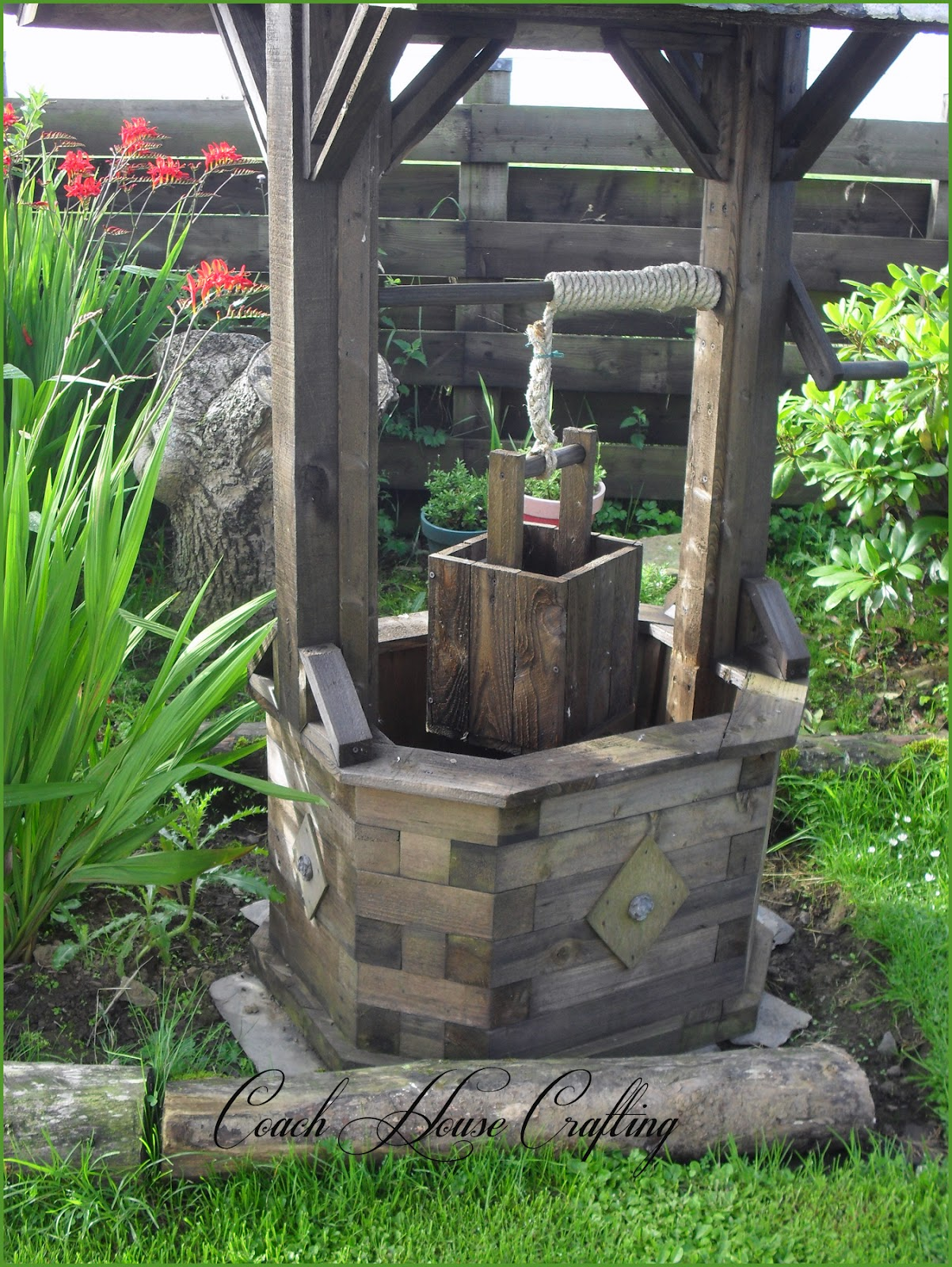 Coach house crafting on a budget for Garden well designs