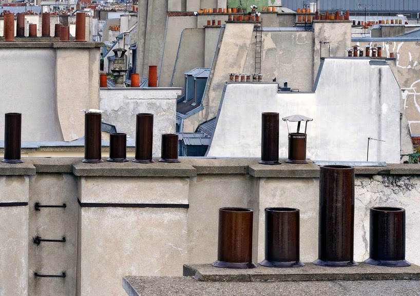 Nest of Pearls - Design Blog - Paris rooftops - by Michael Wolf