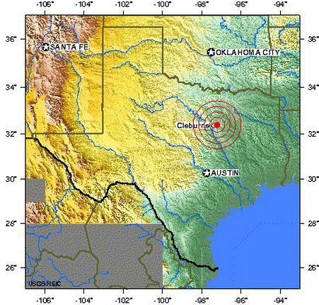 northern texas usa earthquake 2012 june 26