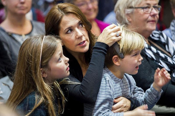 Crown Princess Mary of Denmark and her children, Prince Vincent, Princess Josephine and Princess Isabella