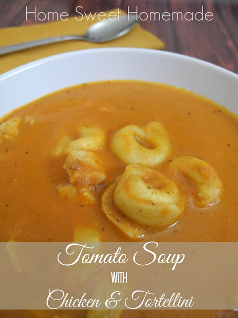 Tomato Soup With Chicken and Tortellini