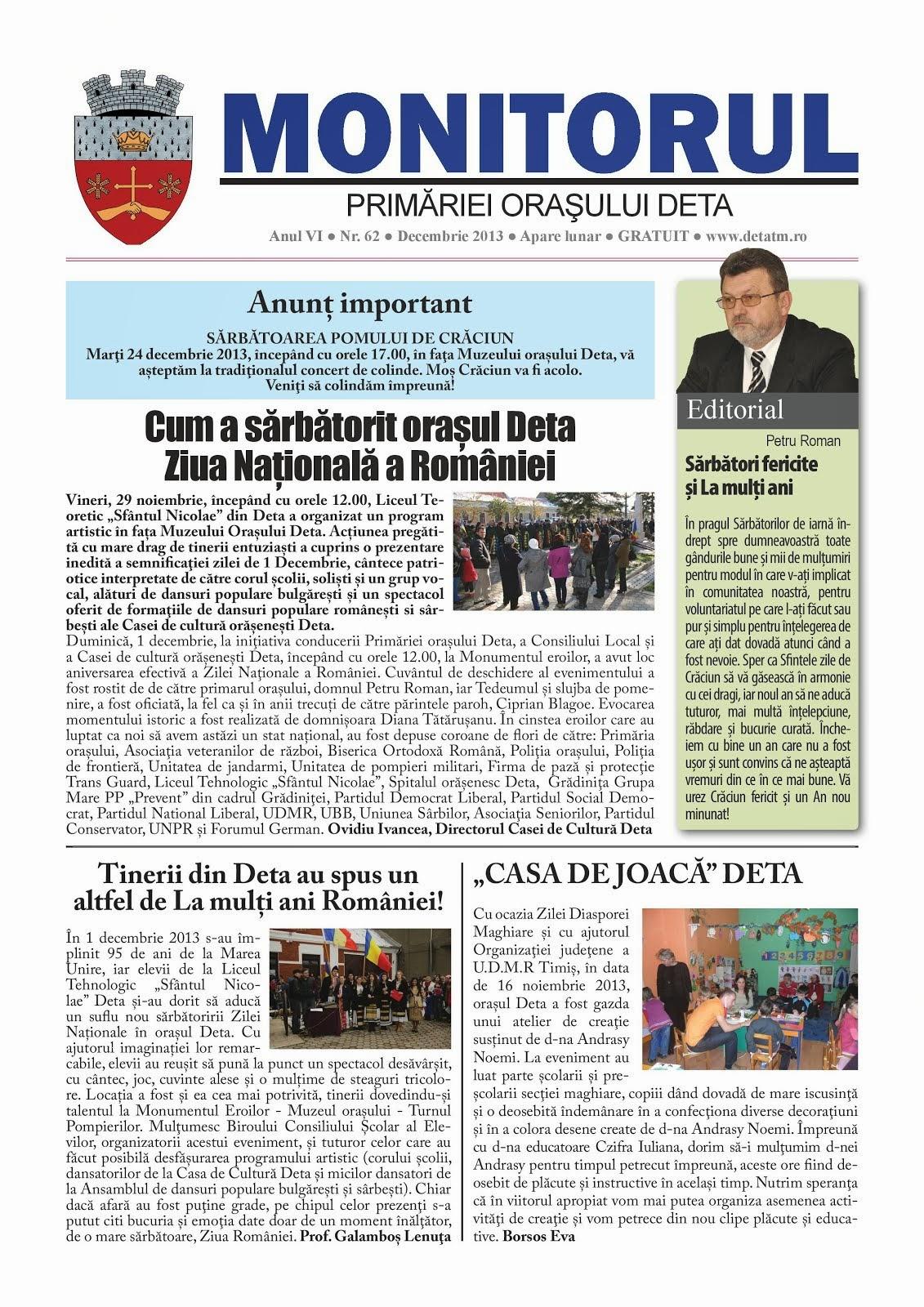 Monitorul - decembrie 2013