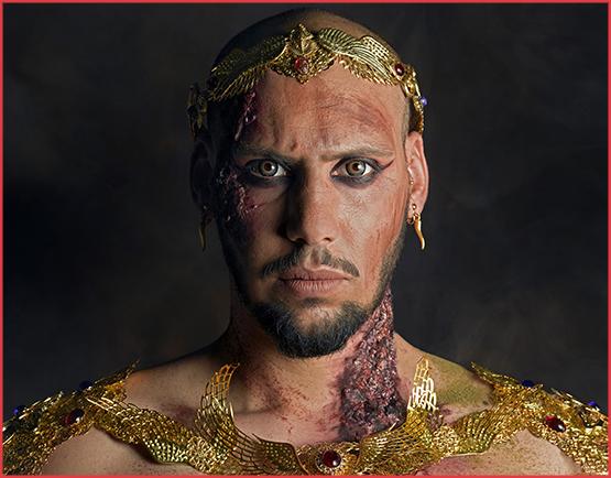 Alain Naim Photographie / Kymaris Modèle / JohMakeUp Création / A Mon Seul Désir Bijoux / Séances Photos Egypte Pharaon Momie