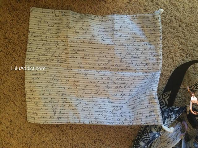 lululemon wanderlust-diversity-bag  wet bag