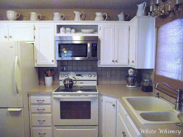 White Whimsy: White Cabinets At Last
