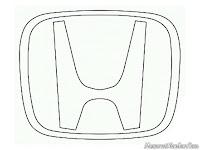 Mewarnai gambar logo mobil Honda