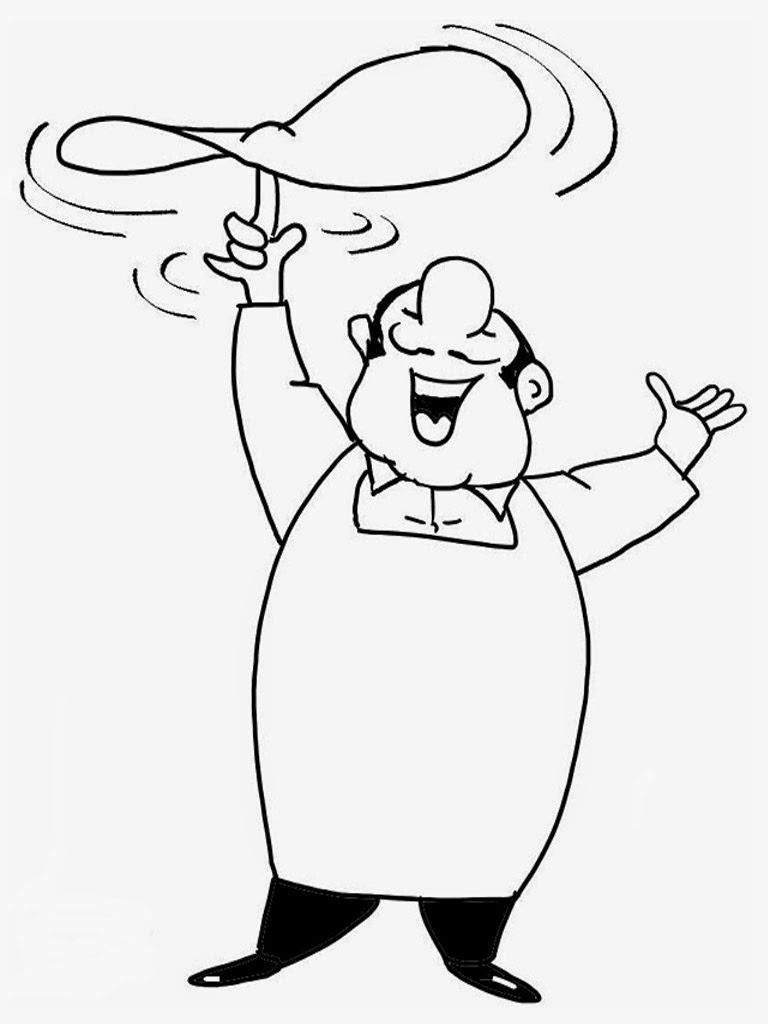 Chef Coloring Pages Realistic