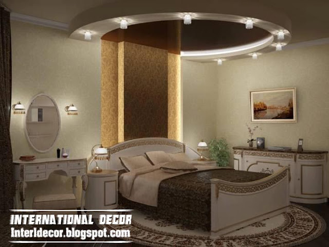 contemporary bedroom design ideas with new ceiling design and lights