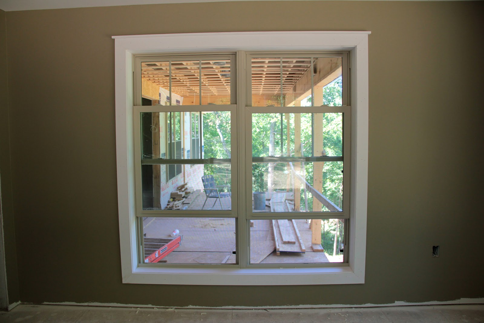 Modern window trim painted window trim and for Home window design pictures