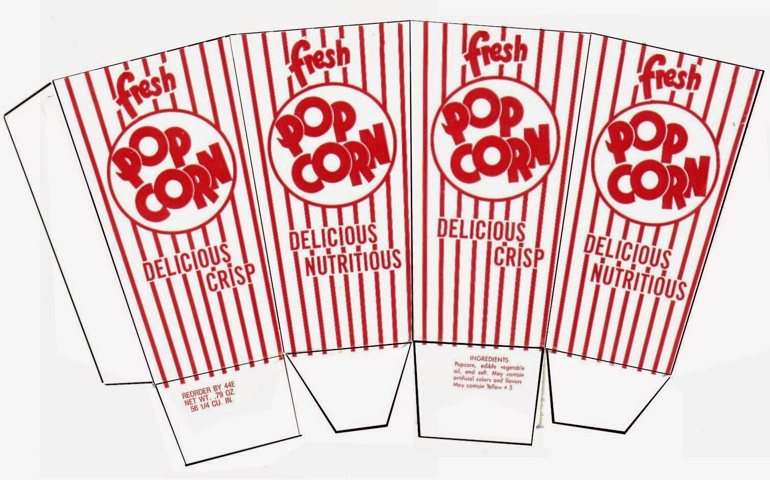 Candid image throughout popcorn box printable