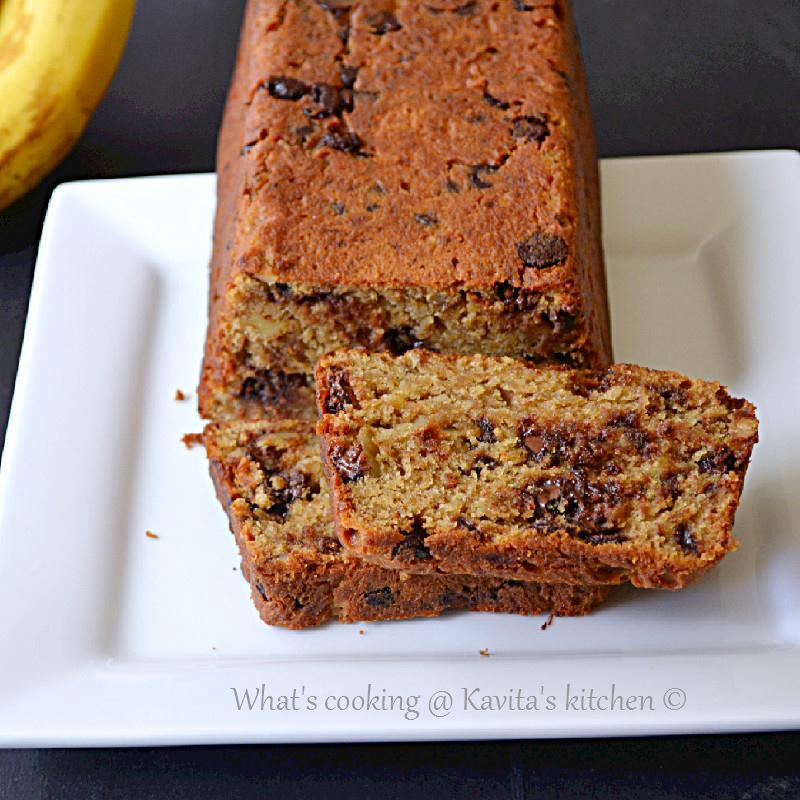 ... Chocolate walnut banana bread/ Eggless chocolate walnut banana bread