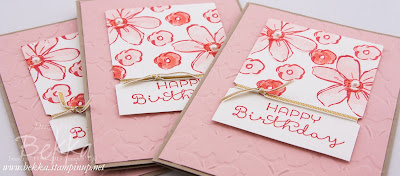 Birthday Flowers with Garden In Bloom Stamps from Stampin' Up! UK