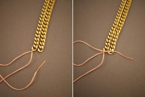DIY: Colar de correntes e linhas!