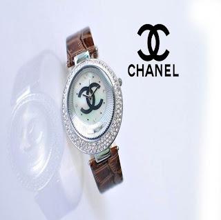 jam tangan keren CHANEL 88016 BROWN
