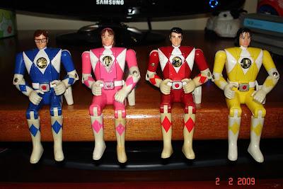 Bonecos dos Power Rangers