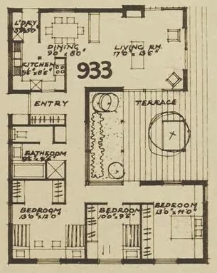 1960s house design - plan