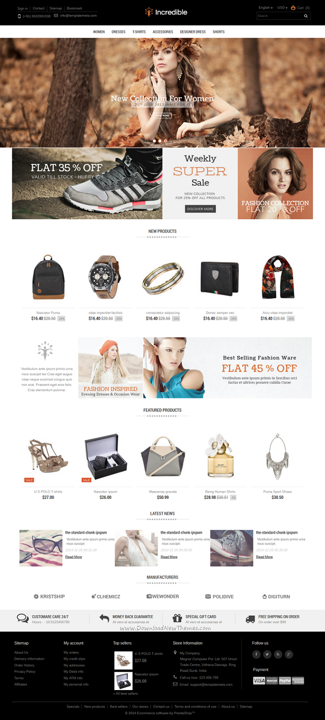 Incredible Prestashop Responsive Theme
